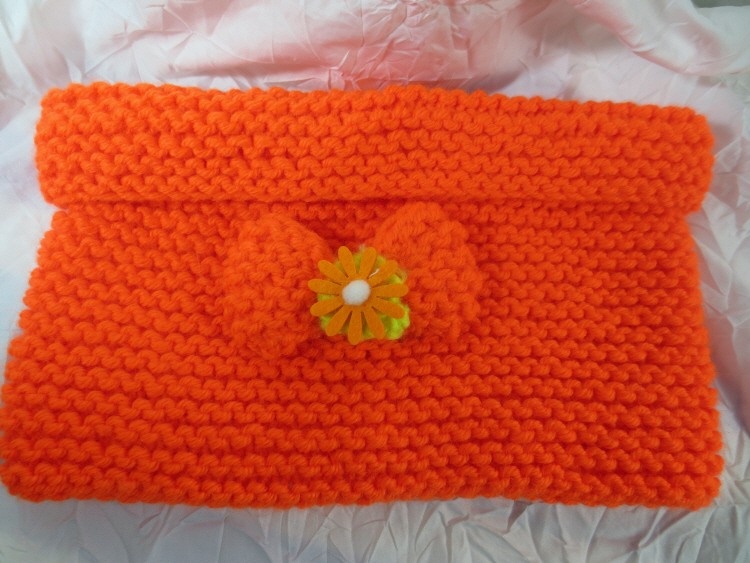 Snood enfant en laine orange